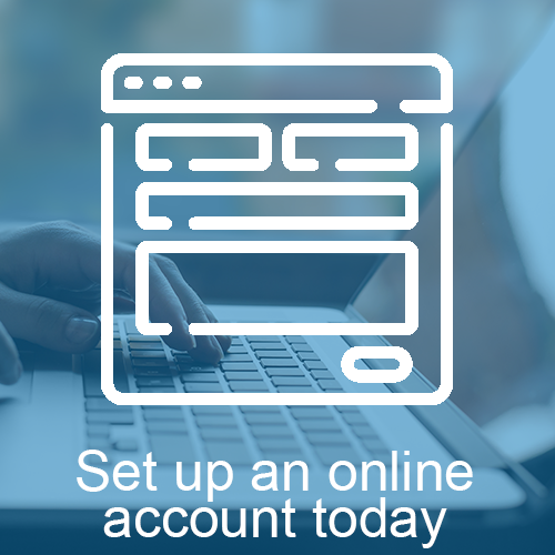 Set up an online account