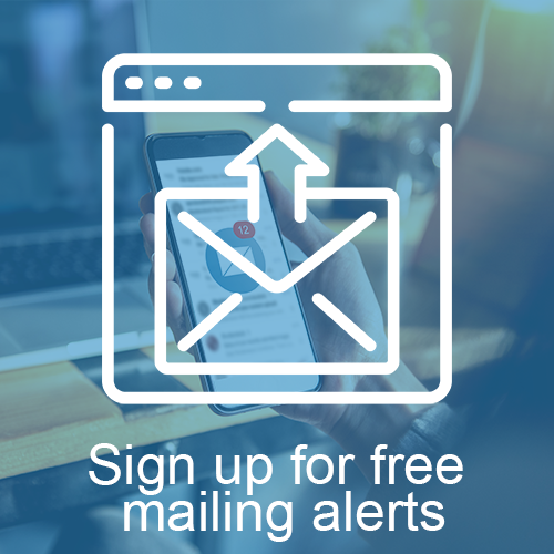Sign up for free mailing alerts